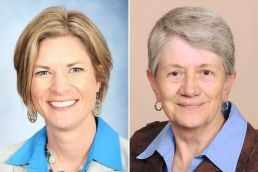 Candidates for Comal County Commissioner, Precinct 4: Jen Crownover (L) and Dorothy Carroll (R)