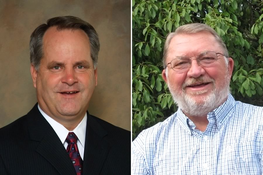Candidates for Comal County Commissioner, Precinct 2: Scott Haag (L) and Michael Zimmerman (R)