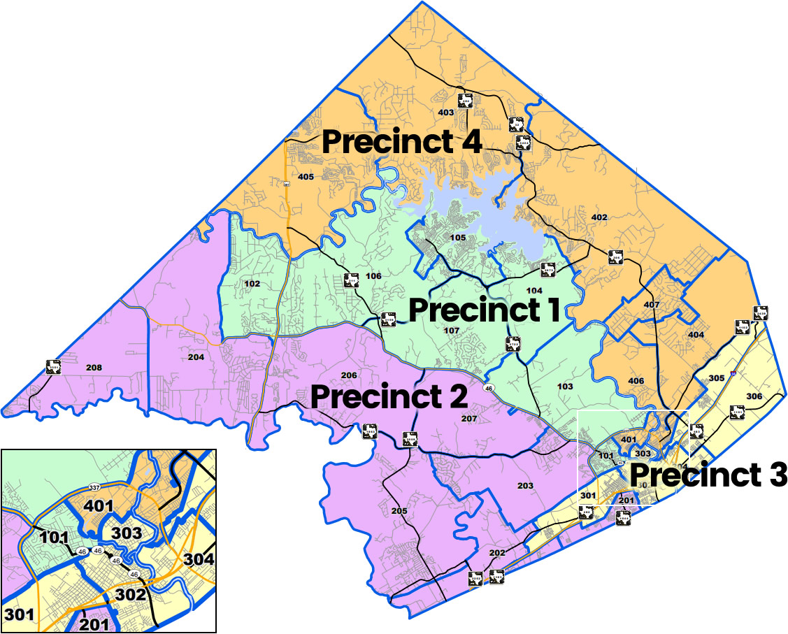 Comal County Precinct Map