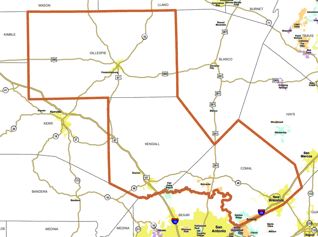 Map of Texas House District 73