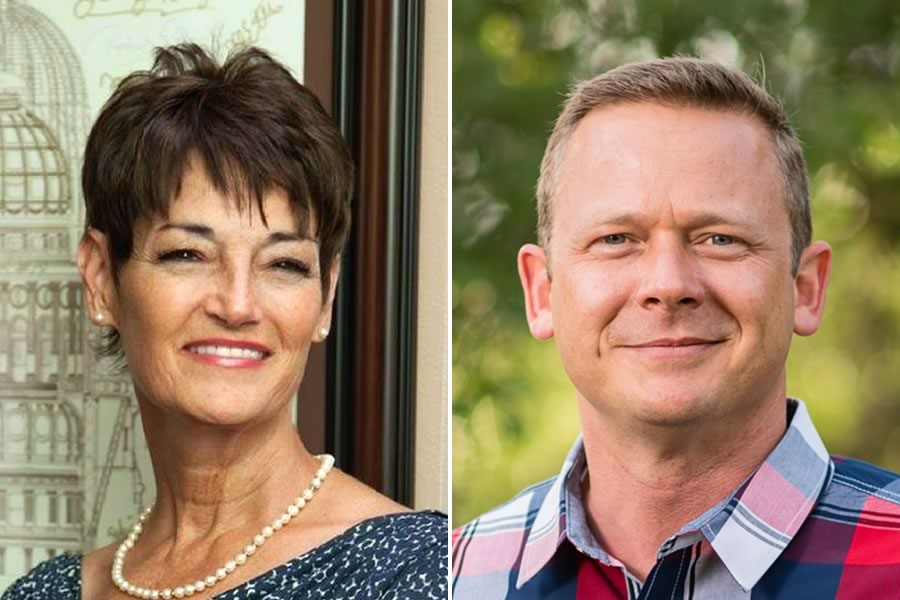 Candidates for State Senator, District 25: Donna Campbell (L) and Steven Kling (R)
