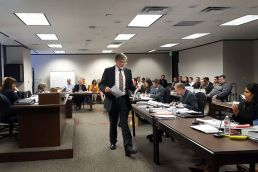 Attorney David Frederick at contested case hearing against Vulcan Construction Materials, Austin, Texas (June 10, 2019)