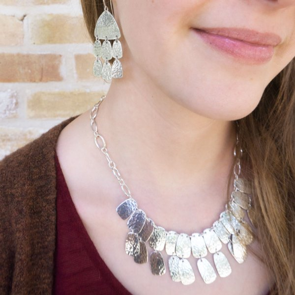Shimmering Elements Necklace and Ear Hooks, Sterling Silver, by James Avery Artisan Jewelry