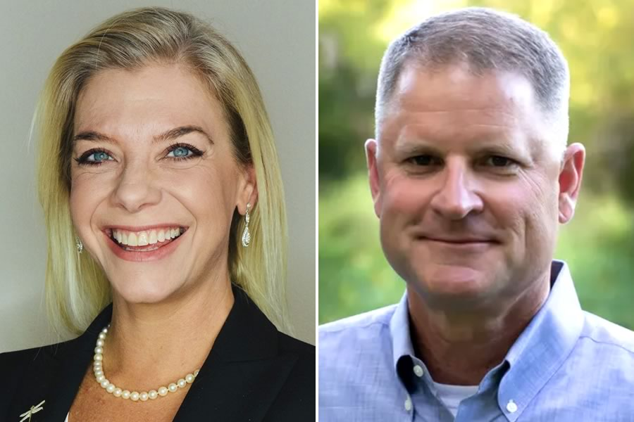 2020 General Election candidates for Comal County Commissioner, Precinct 3: Colette Nies and Kevin Webb