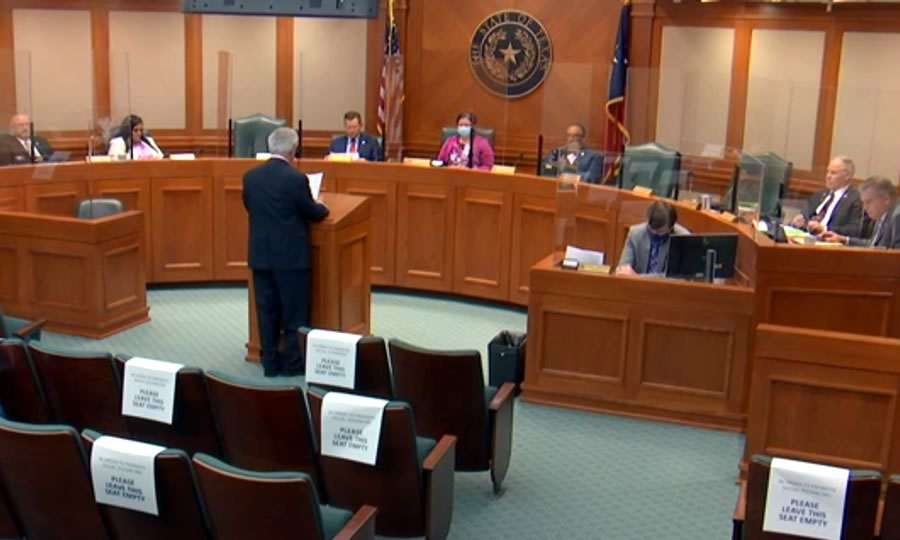 Testifying for HB 3883 in the Texas House Land & Resource Management Committee, 87th Legislature